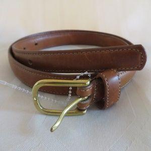 Eddie Bauer Accessories - Eddie Bauer Brown Saddle Leather Belt Women's M